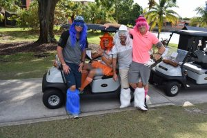 Yacht crew take to the links