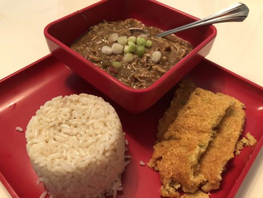 Crew's Mess: Andouille Sausage and Smoked Chicken Gumbo