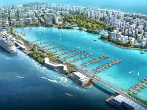 Island-city development in Maldives includes yacht marina