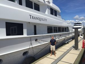 Yacht crew on MY Tranquility expect anything but calm during Hurricane Florence