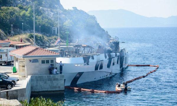 MY Kanga burns in Croatia; guests, crew safe