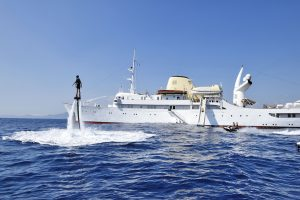 Latest in the charter fleet: Christina O, Force Blue