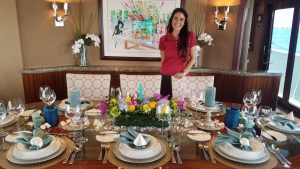 MIAMI19: Flowers, fish and fast, chief stew's equation for boat show tabletop