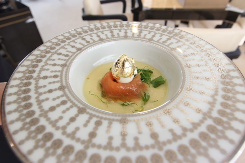 Top Shelf: Sunchoke Vichyssoise with Smoked Salmon and Golden Quail Egg