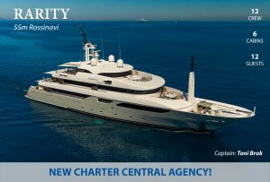 News in the charter fleet: Rarity, Steel with Hill Robinson