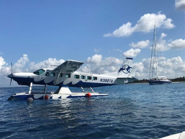 U.S.-based seaplane picks up charter guests in Cuba