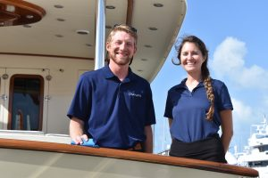 PBIBS19: Crew on the job at Palm Beach International Boat Show