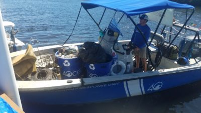 Waterway cleanup clears almost 25 tons of trash