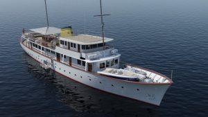 Feadship rebuild of M/Y Istros underway