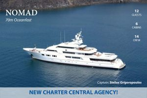 Latest news in the charter fleet: Nomad with Hill Robinson