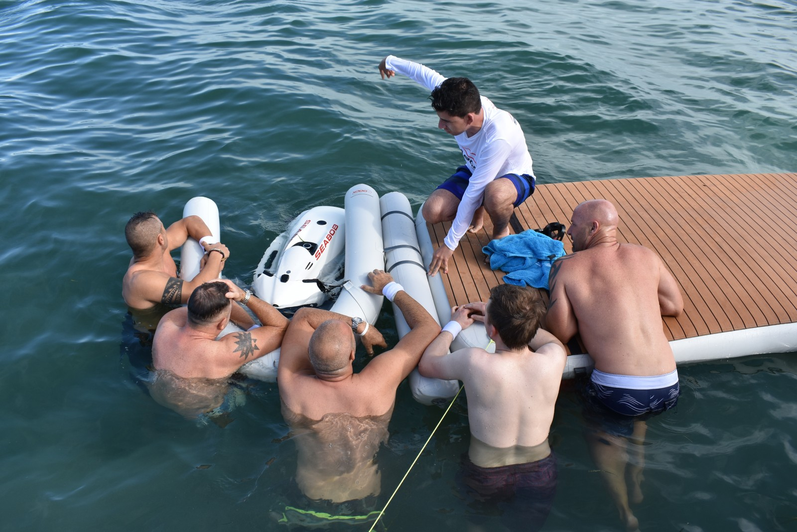 Yacht captains take to the water for relay race at Benetti Yachtmasters