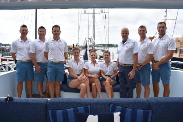 Newport19: Crew bring the sunshine to rainy Newport show