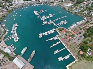 Berth expansion underway at Port Louis Marina in Grenada