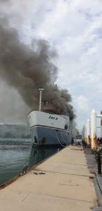 Yacht Lady D burns in Phuket