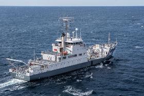 FarSounder sonar on Dutch navy ships