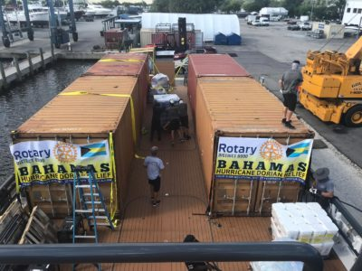 Lots of loading and logistics for crew on M/Y Axis