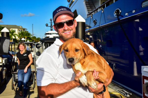 Yacht joins canine crusade after Hurricane Dorian