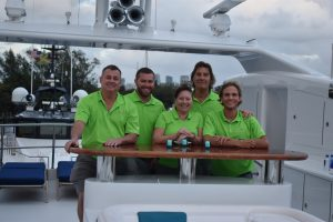 Crew at work during Lauderdale Marine Center's Broker Day