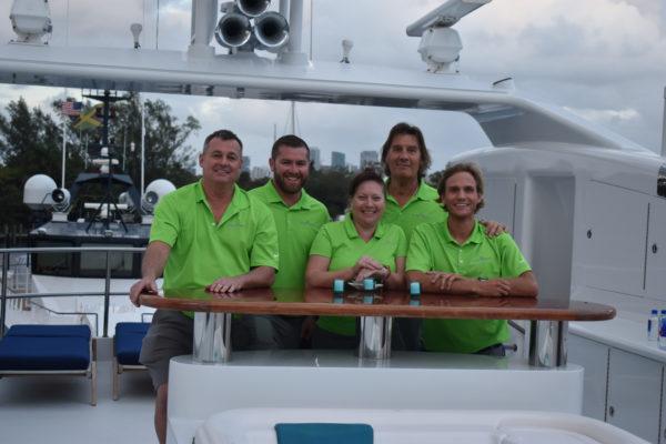 Crew at work during Lauderdale Marine Center's Broker Day