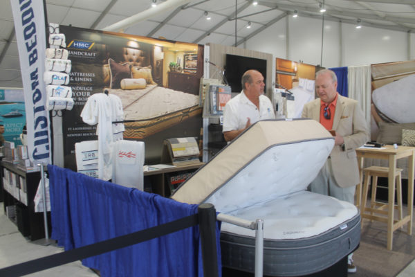 Miami20: Cooling off under the tents at Miami show