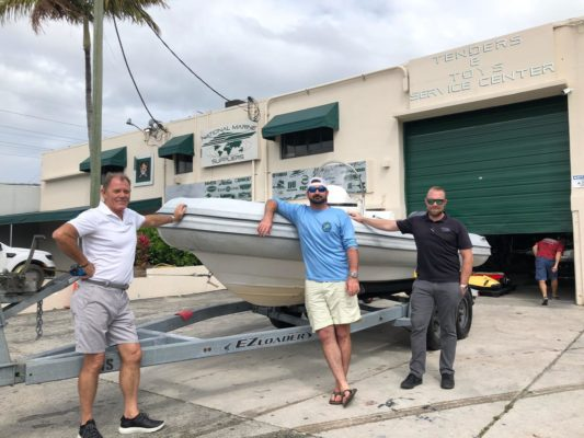 Yacht owner donates tender to Bahamas relief