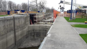 Winter work on Erie Canal stopped