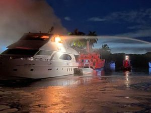 Two yachts burn, no one hurt