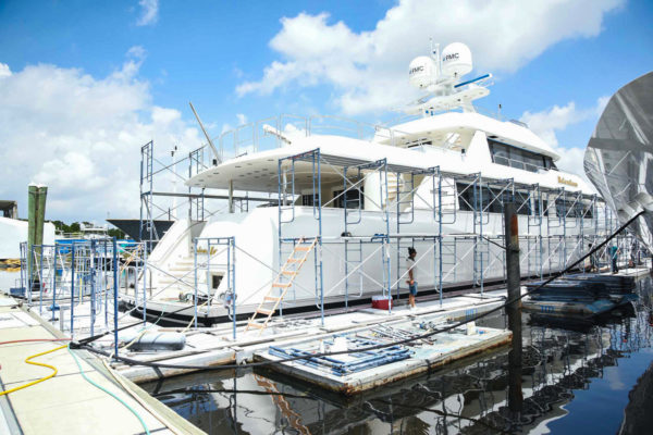 Yacht yard gets busy as COVID quiet wears off