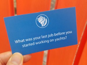What was your last job before working on yachts?