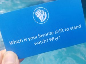 Which is your favorite shift to stand watch?