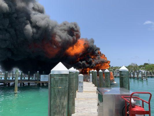 Fire destroys Sunseeker in Bahamas