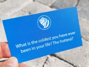 What's the coldest you have ever been in your life? The hottest?