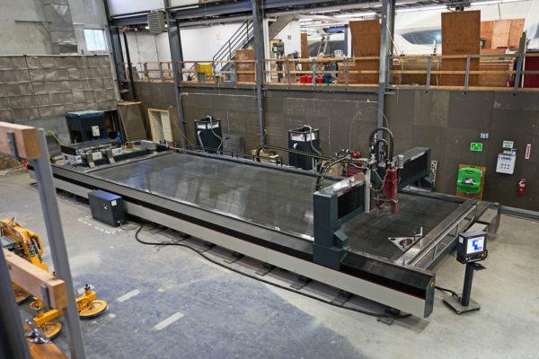 New waterjet cutting machine operational at Maine yard