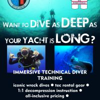 Technical Diver Training for Yacht Crew